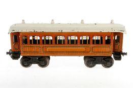 Bing Personenwagen, S 1, Chromlithographie, mit 4 AT, L 33, Z 4