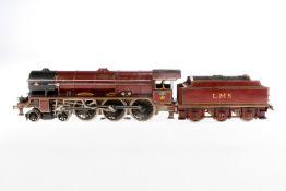 Biaggi 2-C Dampflok LMS, S 1, elektr., 3-Leiter, Metall, rotbraun/schwarz, mit Tender und 2 el. bel.