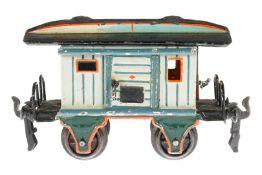 Märklin Sanitäts-Gepäckwagen 1823, S 0, uralt, HL, mit Diensteinrichtung, 1 AT und 2 ST, LS tw