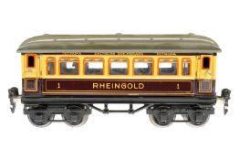 Märklin Rheingold Wagen 1749 G, S 0, CL, mit Speiseeinrichtung und 4 AT, LS und gealterter Lack, L