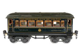 Märklin internationaler Schlafwagen 1747 G, S 0, CL, mit Inneneinrichtung und 4 AT, LS tw ausgeb.,