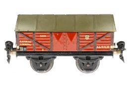 Märklin Zementwagen 1664, S 0, CL, LS und gealterter Lack, L 13, Z 2-3