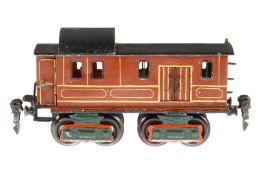 Märklin Gepäckwagen 1846, S 0, uralt, HL, mit Diensteinrichtung, 2 AT und 4 ST, LS tw ausgeb.,