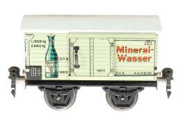 Märklin Mineralwasserwagen 1687, S 0, CL, mit 1 ST, LS und gealterter Lack, L 13, im leicht besch.