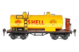 Märklin Shell Kesselwagen 1854, S 0, HL, mit BRH, LS tw ausgeb., gealterter Lack, Rahmen tw