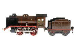 Märklin B-Dampflok R 12890, S 0, elektr., braun/schwarz, mit Tender, gW und 1 el. bel. Stirnlampe, 1