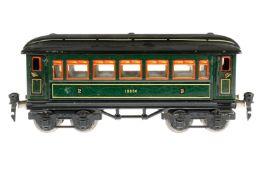 Märklin Personenwagen 1888, S 0, CL, mit Inneneinrichtung und 4 AT, kleine Austupfungen, LS und