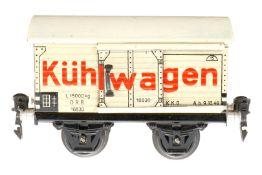Märklin Kühlwagen 1683, S 0, CL, mit 1 ST, LS und gealterter Lack, L 13, im besch. OK 1681, sonst