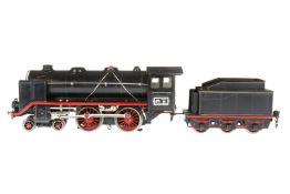 Märklin 2-B Dampflok E 70/12920, S 0, elektr., schwarz, mit Tender, kW und 2 el. bel. Stirnlampen,