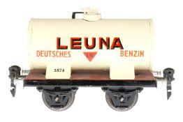 Märklin Leuna Kesselwagen 1674, S 0, HL, LS und gealterter Lack, L 13, im besch. OK, sonst Z 2