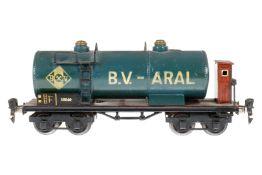Märklin Aral Kesselwagen 1854, S 0, HL, mit BRH, Schwarzbereiche tw nachlackiert, LS tw ausgeb.,