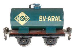 Märklin Aral Kesselwagen 1674, S 0, HL, LS und gealterter Lack, L 13, sonst noch Z 2-3