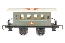 Märklin Sanitätswagen 1828 Op, S 0, HL, mit Operationsraum und Apotheke, 4 AT, Dach tw ausgeb.,