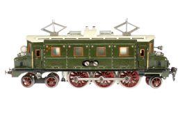 Märklin 2-C-1 E-Lok HS 66/13020, S 0, elektr., grün, mit 1 el. bel. Stirnlampe, 1 Treppe ersetzt,