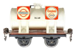 Märklin Standard/Essolub Kesselwagen 1674, S 0, HL, LS und gealterter Lack, L 13, im besch. OK (