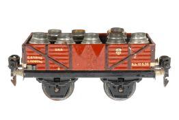 Märklin offener Güterwagen 1661, S 0, CL, beladen mit Milchkannen (Deckel fehlen), LS und gealterter