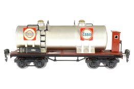 Märklin Standard/Essolub Kesselwagen 1854, S 0, HL, mit BRH, LS und gealterter Lack, L 24,5, sonst Z
