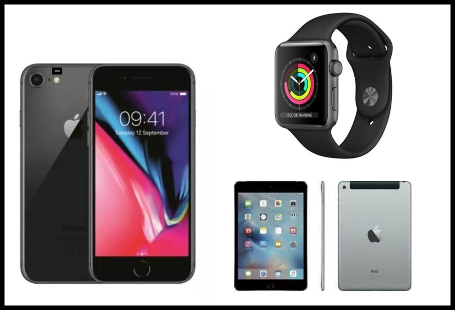 Huge Apple iPad and iPhone Clearance - iPad 2, iPad 3, iPad 4, iPad 5, iPad 6, iPad Mini 1 and 2. iPhone 8 64gb