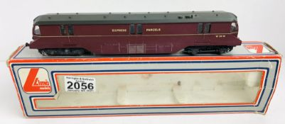 Lima OO Gauge Express Parcels Car Locomotive Boxed CONDITION REPORT: Damaged Buffers P&P Group 1 (£