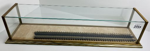 Picture Pride O Gauge Locomotive Glass Top Case Display 64cm x 13cm x 14cm. Not available for in-