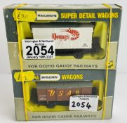 2x Wrenn OO Gauge Wagons - W5009 & W5052- Both Boxed P&P Group 1 (£14+VAT for the first lot and £1+