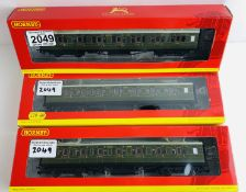 3x Hornby OO Gauge SR Maunsell Coaches R4299E, R4298A, R4299E Boxed P&P Group 1 (£14+VAT for the