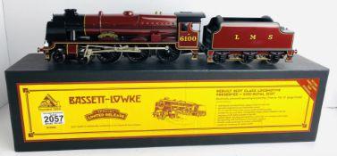 Bassett Lowke O Gauge BL99016 Royal Scot 6100 LMS Crimson Boxed. P&P Group 2 (£18+VAT for the