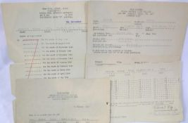 American WWII type POW work documents relating to Uffz Walter Kruppek. P&P Group 1 (£14+VAT for