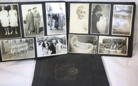 British album of early photographs, including portraits, some military and monument subjects etc.,