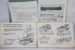 9mm Browning Pistol Training Manual Dated 1958 & M60 Machine Gun manual Dated 1985. P&P Group 1 (£