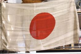 Japanese WWII type flag, 50 x 90 cm. P&P Group 1 (£14+VAT for the first lot and £1+VAT for