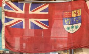 Canadian WWII type flag bearing stamps for Toronto 1943, 150 x 80 cm. P&P Group 3 (£25+VAT for the