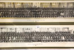 The Duke of Yorks Royal Military School, Dover 1970 and 1975 panoramic photographs, largest 116 x 17