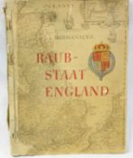 Interesting German cigarette card album c. 1935, which appears to be a mocking of British history.