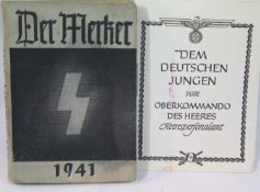 German Third Reich type Hitler Youth book dated 1941. P&P Group 1 (£14+VAT for the first lot and £