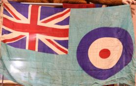 British WWII type RAF Squadron Base flag, stamped Oxford 1938, 60 x 90 cm. P&P Group 1 (£14+VAT
