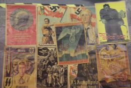 Collection of nine German Third Reich type propaganda posters, each 45 x 31 cm. P&P Group 2 (£18+VAT