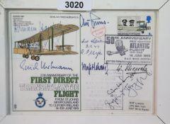 Luftwaffe Aces signed WWII RAF FDC, including Erich Hartmann, Hermann Hogeback, Adolf Galland and