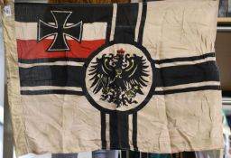 German Imperial WWI type battle flag, 90 x 60 cm. P&P Group 1 (£14+VAT for the first lot and £1+