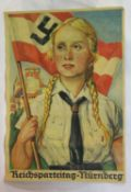 German WWII type Hitler Youth Sports Poster 44 X 31 cm. P&P Group 1 (£14+VAT for the first lot