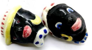 Boxed pair of 1930s ceramic clip-on earrings. P&P group 1 (£14 + VAT for the first lot and £1 +