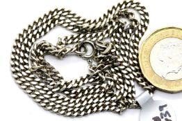 "925 silver solid link 20"" curb chain, clasp fully functional. P&P Group 1 (£14+VAT for the first lot"