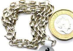 "Ladies silver 16"" solid link belcher chain. P&P Group 1 (£14+VAT for the first lot and £1+VAT for"