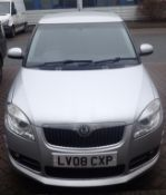 2008 Skoda Fabia Sport TDI in silver 80,000 Miles, 1.9 Diesel MOT until 02/12/2021. Dent to one