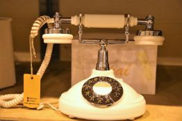 Ivory GPO Opal classic retro push button telephone compatible with modern telephone banking and