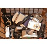 Tray of mixed digital cameras to include a Sony Cyber shot, Kodak easy share etc. Not available