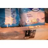Large quantity of Tena Proskin pants, size medium. Mostly unopened in packs of twelve (