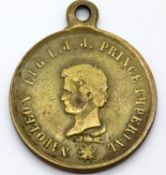 Medal to commemorate the investiture of Prince Imperial Eugene, son of Napoleon III of France.