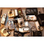 Tray of mixed digital cameras to include Cannon power shot, Samsung L3 low etc. Not available for