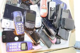 Tray of mixed mobile phones to include Blackberry Samsung Nokia. Not available for in-house P&P